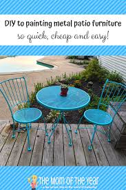 painting metal patio furniture how to