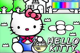 They love hello kitty coloring pages as these allow them to spend some quality time with their favorite cute bobcat while playing with colors and shades. Hello Kitty Coloring Game Play Free Hello Kitty Games Games Loon