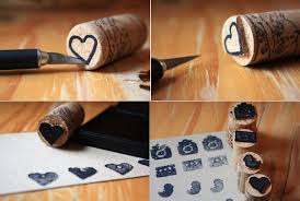 Cork stamps.