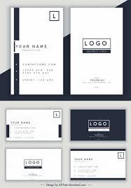 Name Card Template Simple Horizontal Vertical Design Free