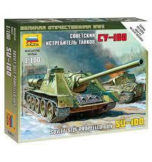 <b>Сборная модель Звезда</b> Советский истребитель танков <b>СУ</b>-<b>100</b> ...