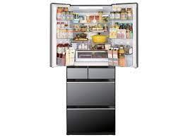 Tủ lạnh Hitachi R-KX57K 6 cánh mặt gương và có ngăn cấp đông mềm - Hàng  Nhật Bãi 123