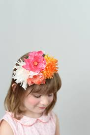 Paper Flower Headbands Paper Flower Headband Diy