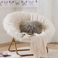 ivory himalayan faux fur hang a round chair