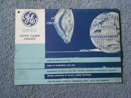 Details About 1963 Ge General Electric Auto Lamp Chart Car Light Bulb Applications Original
