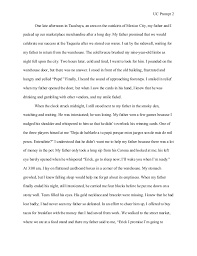 student example uc essay  uc prompt 2 one late afternoon in ta ya an area on the outskirts of