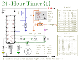 two simple 24 hour timer circuit schematics notes