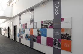 company timelines history wall displays company history