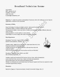 Telecommunication Resume Professional Telecommunications Technician Resume Template