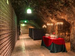 photo one of the wine cellar caves at the schramsberg vineyard winery in california