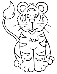 Small Picture Tiger Coloring Pages Printable Coloring Home