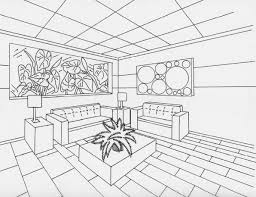 pin Drawn office one point perspective #2