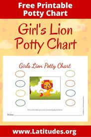 Free Potty Training Chart Girls Lion Acn Latitudes