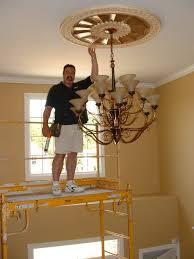 what size medallion for foyer chandelier ceiling medallions custom faux central nj on dream lighting foyer