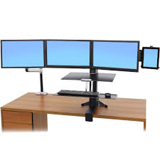 Ergotron Lx Triple Display Lift Stand 100100100 LX SitStand Desk Mount Monitor Arm 78