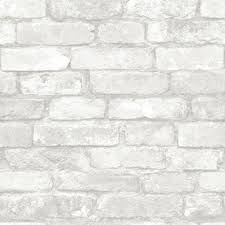 nuwallpaper grey and white brick l and stick wallpaper
