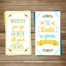 Cute inspirational quotes Cute cards with inspirational quotes Vector Free Download 67