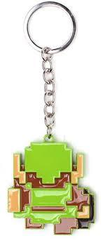 sentinel nintendo legend of zelda 8 bit link pendant metal keychain
