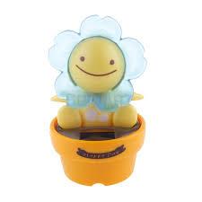 solar powered dancing flip flap car home desk dancer bobble toy blue flower