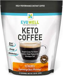 Main common keto coffee ingredients include: Amazon Com Evowell Keto Brown Coffee Organic Grass Fed Butter Medium Chain Triglycerides Himalayan Salt 15 Servings Health Personal Care