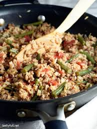 ground turkey skillet with rice and