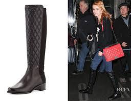 Bella Thorne's Stuart Weitzman Guard Quilted Leather Knee High ... & Bella Thorne's Stuart Weitzman Guard Quilted Leather Knee Boots Adamdwight.com