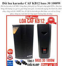 Trả góp 0%] Đôi loa karaoke CAF KB12 bass 30 1000W, hàng nhập, Loa karaoke  gia đình ( tặng 2 khẩu neutrick 99k )