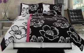 pink black and white comforter set