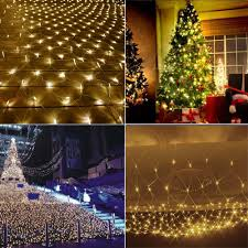 How To Decorate A Tree Trunk With Christmas Lights Christmas Lights Net 204 Led 3 2m Net String Lights Tree