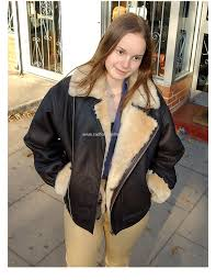 las air force aviator style authentic sheepskin flying jacket