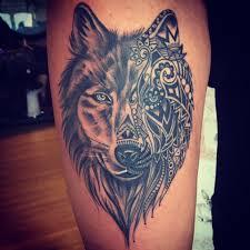 Women S Thigh Tattoos Designs Wolf Thigh Tattoo Wolf Tattoos For Women Wolf Tattoos