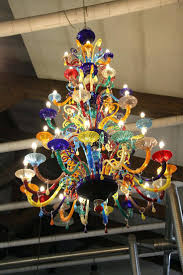 colorful chandelier lighting. Chandeliers: Colored Glass Chandelier Shades Multi Blown Extraordinary Colorful Lighting