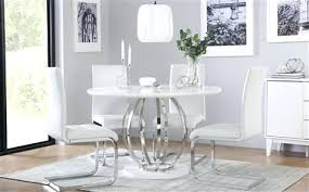 white gloss dining table set savoy round white high gloss and chrome dining table with 4