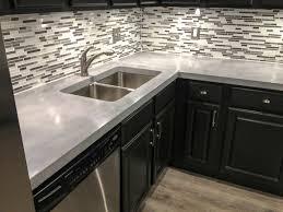 concrete kitchen countertop full image