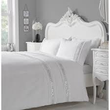 serene bedding glance white silver sequins duvet set