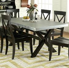 metal top kitchen table liberty furniture ii rectangle trestle dining table with metal top round metal