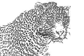 Small Picture Leopard Mosaic Coloring Pages Batch Coloring