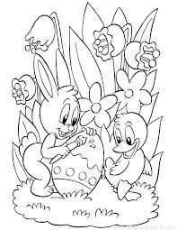 Easter Bunny Coloring Pages Easy Bunny Coloring Pictures Cute Page