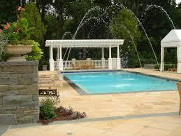... Custom Metel Frame Fiberglass Pergola Franklin Lake With Fountain And  Pergola Design With Outdoor Pool Design ...