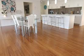 Is Bamboo Flooring Good For Kitchens Kitchen Cool Black And White Nuance Combined With Bamboo Floors In