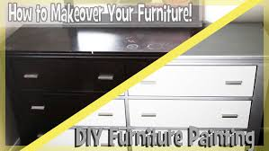Paint For Bedrooms With Dark Furniture Diy Paint Bedroom Furniture Easy Youtube