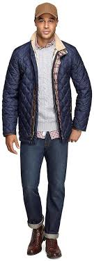Brooks Brothers Quilted Jacket | Where to buy & how to wear & ... Navy Quilted Field Jackets Brooks Brothers Quilted Jacket ... Adamdwight.com