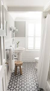 tile black and white for shower floor bathroom with subway tile patterned encaustic tiles designed by vintage scout interiors bathroom r50
