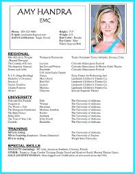 Theatre Resume Templates Best Children Acting Resume No Experience Child Template Mysticskingdom
