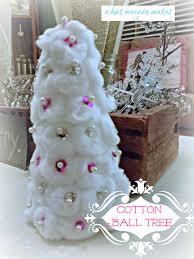 Decorating Christmas Tree With Balls Cotton Ball Christmas Trees 80