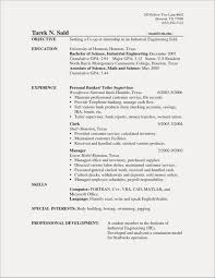 Bank Teller Resume Template Simple 20 Within Examples Floating