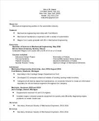 Sample Resumes For Mechanical Engineers Best of 24 Sample Maintenance Resumes Sample Templates
