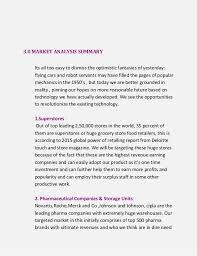 Executive Sumary Business Plan Unishelf Executive Summary Financial Analysis