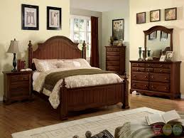 Bedroom: Gold Bedroom Set Unique Palm Coast Distressed Light Walnut Panel  Bedroom Set With Antique