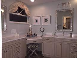 Master Bathroom Corner Vanity Makeup Desk Transitional Bathroom Miami Houzz